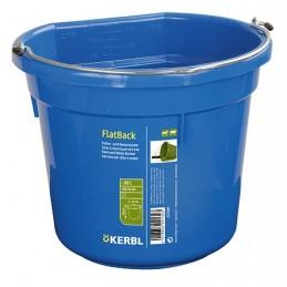 Fòr og vannbøtte Flat 20L  blå