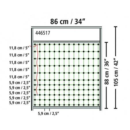Port til strømførende netting høyde 90 cm