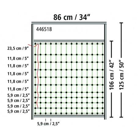 Port til strømførende netting høyde 125 cm