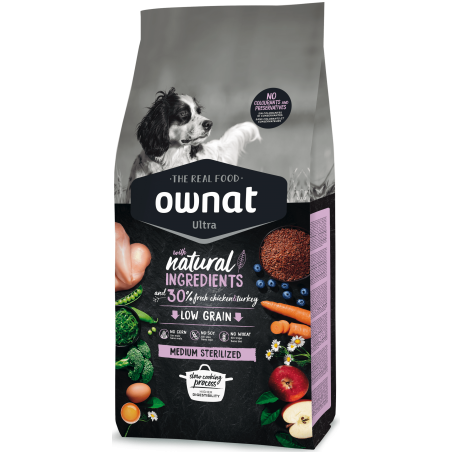 Ownat Ultra medium adult sterlisert 14 kg