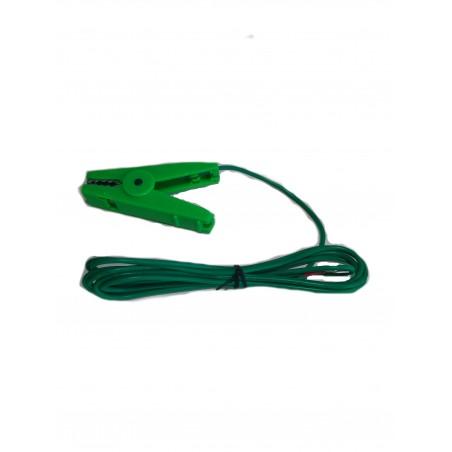 Krokkodilleklemme Grønn m/ 2 meter ledning