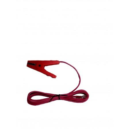 Krokkodilleklemme Rød m/ 2 meter ledning