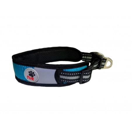 TUR Halsbånd blå smal 28-36cmx4,5cm