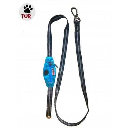TUR Leiebånd m/låsbar krok blå 200cmx2,5cm