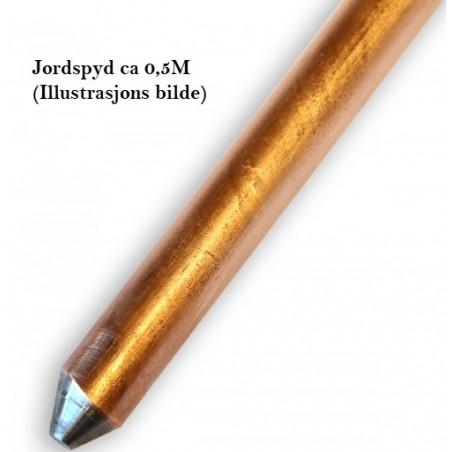 Jordspyd kobberbelagt stål 50cm