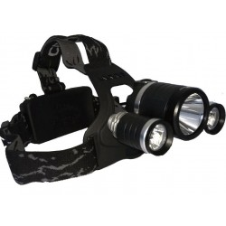 Hodelykt 1800lm  3 X CREE...